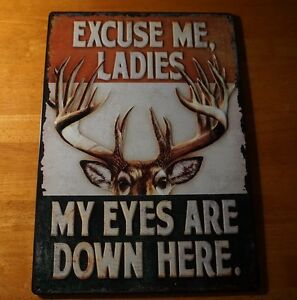 My eyes are down here buck deer rack hunting lodge hunter for Decor my eyes
