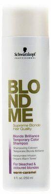 Schwarzkopf Professional BlondMe Brilliance Color Shampoo - Warm Caramel 8 oz.