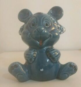 Rare-Vintage-Italian-European-Pottery-Glazed-Ceramic-Bear-Money-Box-Piggy-Bank