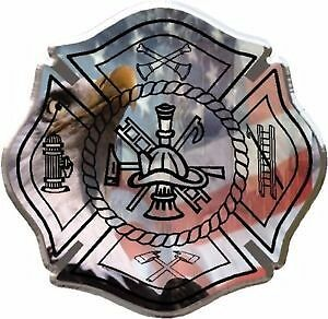 Eagle fire fighter maltese cross vinyl graphic decal