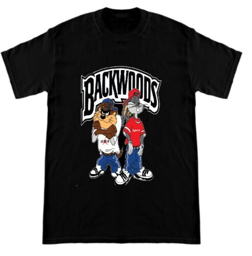 Bugs Bunny /& Taz x Looney Toons Kris Kross Classic T-Shirt Black BACKWOODS XS-2X