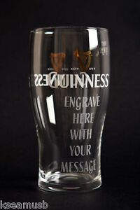 Guinness Pint Glass - Personalised Engraved Gift & Gift boxed