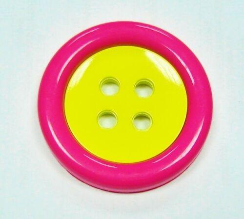 Double-face clown Bouton Bouton 48mm rose-jaune 3.40 EUR//pièce