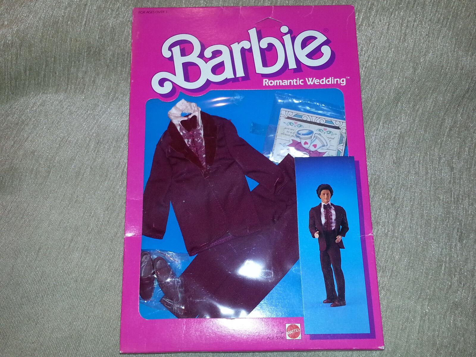 Barbie-Puppe Ken Romantische Hochzeit Smoking mit Schuhes Kleidung + Einladungen