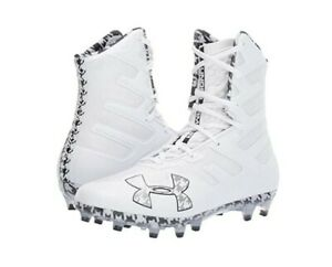 White Size 13.5 M New Mens Under Armour Highlight MC Lacrosse Cleats Black