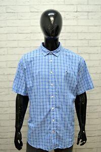 Camicia-Uomo-TOMMY-HILFIGER-Taglia-Forte-Maglia-Polo-Quadri-Cotone-Big-Shirt-Blu