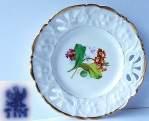 Porcelain-Plate-Flowers-Hand-Painting-C-Tielsch-amp-Co-Silesia-um-1848-AL475
