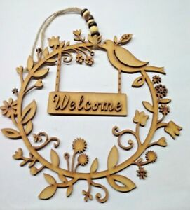 New-Year-Door-Welcome-Decoration-wood-Hanging-Pendant-Christmas-Ornament-Decor