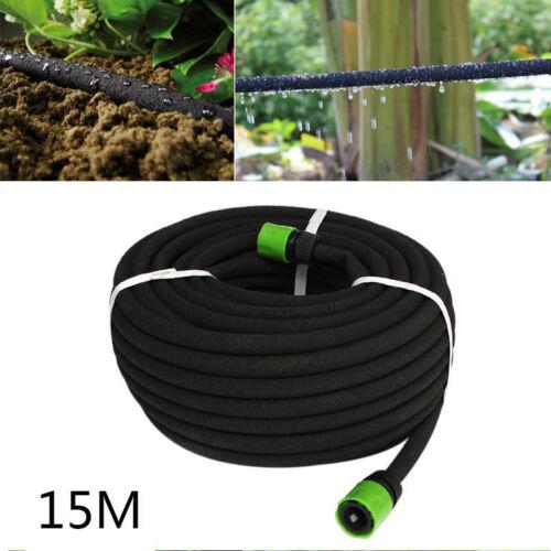 15 m Hozelock Compatible Poreux Soaker Tuyau Jardin Irrigation Goutte à Goutte Arrosage Tuyau
