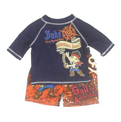 Disney Boys 2-Piece Jake & The Neverland Pirates Swim Set 12 Months Navy/Orange