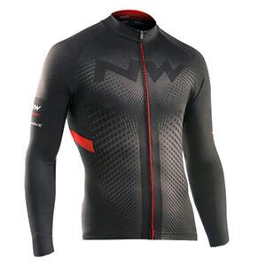 Cycling Long Sleeve Jersey Bib Bicycle Bike Race Shirt Windproof Clothes Jacket