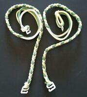 Braided Bra Straps - Replacement Convertible - Green, Yellow, White - Decorative