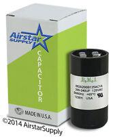 Usa Start Capacitor 200-240 Mfd Uf 110 - 125 V Round Ac Electric Motor Vac Volt