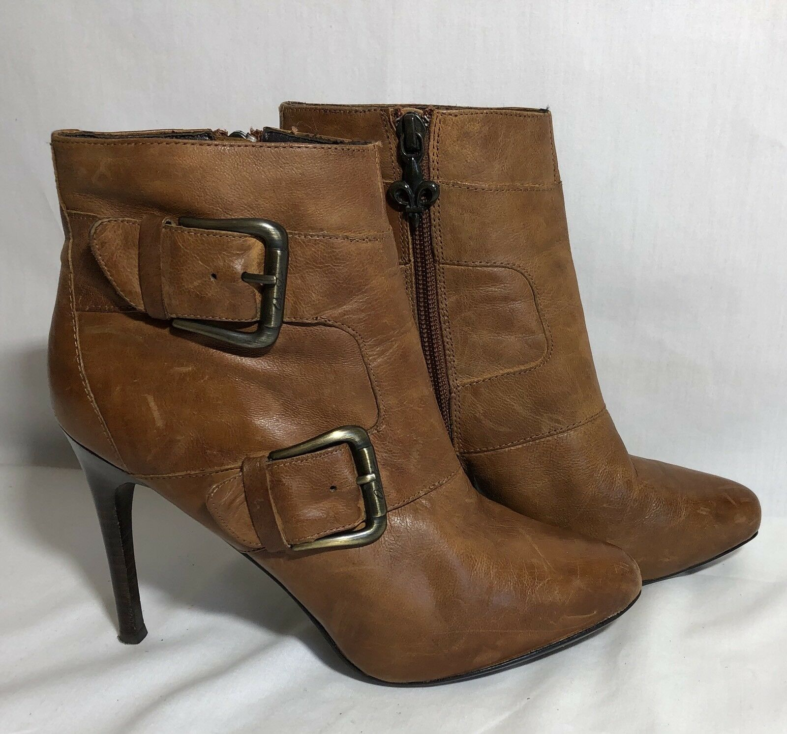 Donald J Pliner 6.5 Ankle Boot  Stiletto Heel Lather