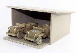 Garage 2 Jeep Militaires / Jouet Ancien