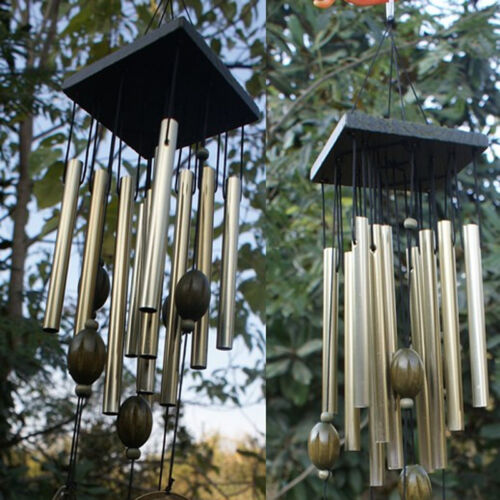 60cm Wind Chime Outdoor Garden Home Decor Windchime Bells 12 Tubes Copper Gifts