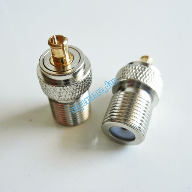 1pce N Male Plug to F TV Female Jack RF Coax Adapter Connector Straight 75ohm