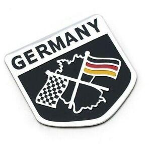Allemagne-3d-Chrome-Autocollant-sticker-voiture-moto-Racing-Drapeau-Germany-Sport