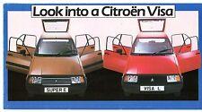 Citroen Visa L & Super E 'Look Into' 1983 UK Market Foldout Sales Brochure