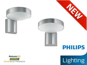 APPLIQUE-LED-ESTERNO-INOX-PHILIPS-DA-PARETE-220V-COCKATOO-MODERNO-ACCIAIO-800-LM