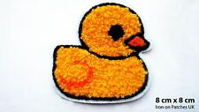 Cute Yellow Baby Duck Iron Sew On Embroidered Patch Badge for Kids Clothes