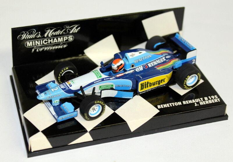 Minichamps 1 43 Scale 430 9500002 Benetton Renault B195 J Herbert Diecast F1 Car