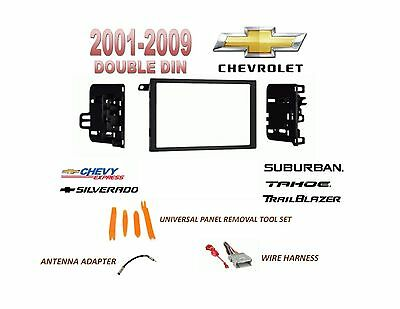 2001-2009 CHEVROLET SILVERADO TAHOE SUBURBAN 2 DIN CAR STEREO INSTALL DASH KIT