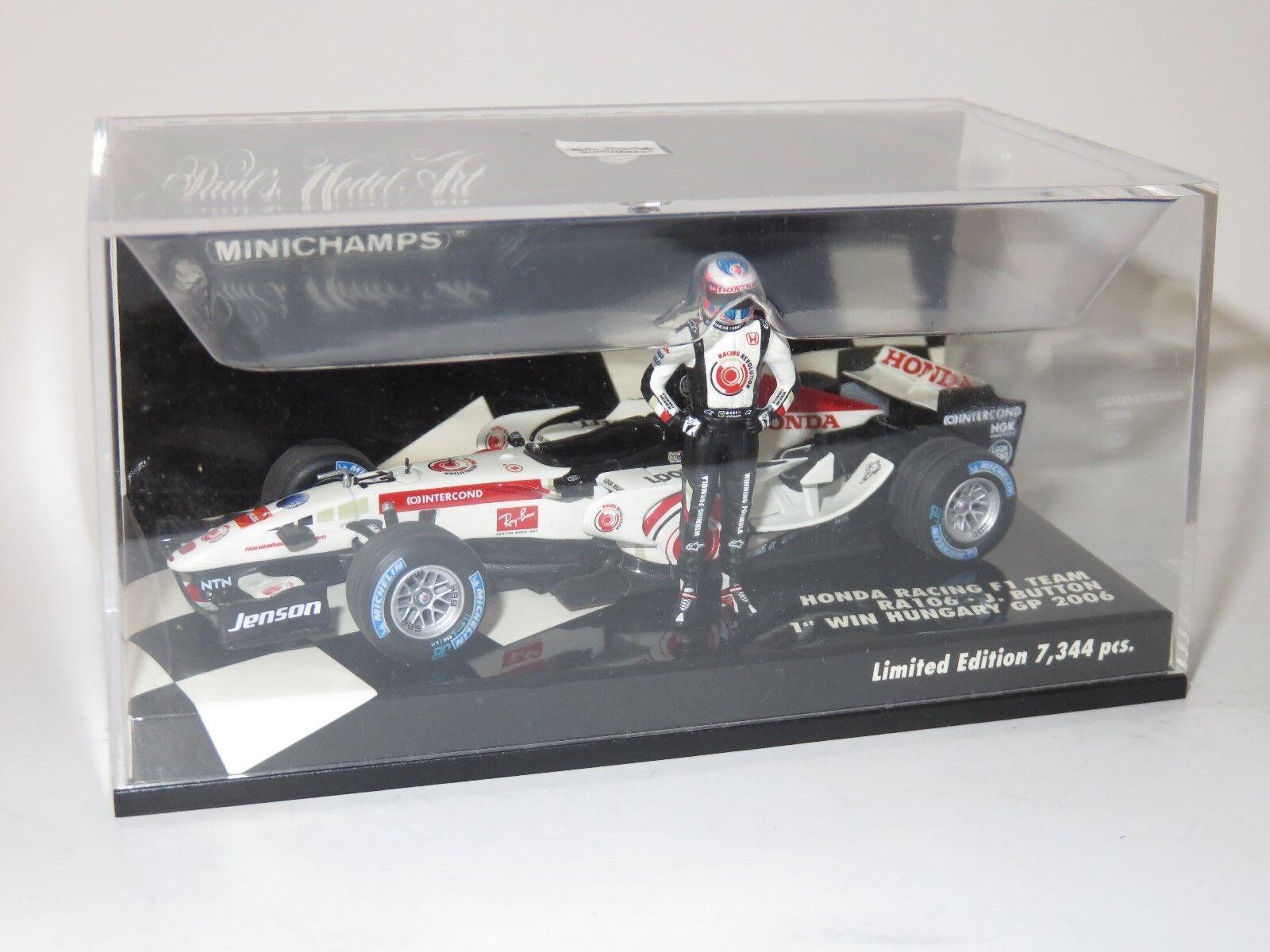 1 43 Honda Honda Honda Racing RA106  Jenson Button 1st GP Win Hungary 2006 30eada