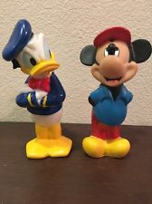 Mickey Mouse And Donald Duck Plastic Figurines 6""