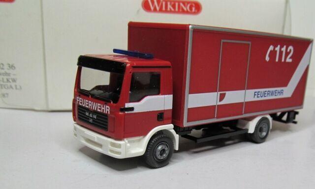 Wiking 1:87 MAN TGL Koffer Lkw OVP 606 02 Feuerwehr