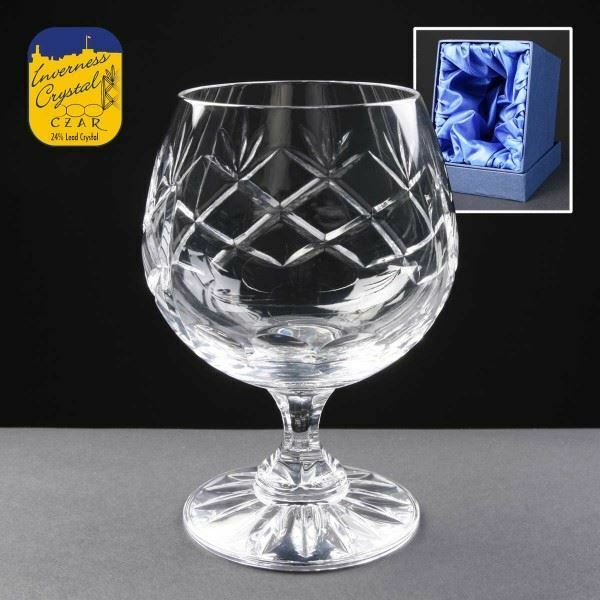 Inverness 10oz Panelled Crystal Brandy Glass Personalise Engrave Engrave Engrave Gifts Trophy 64bbc3