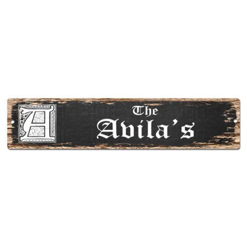 SPFN0421 The AVILA/'S Family Name Street Chic Sign Home Decor Gift Ideas