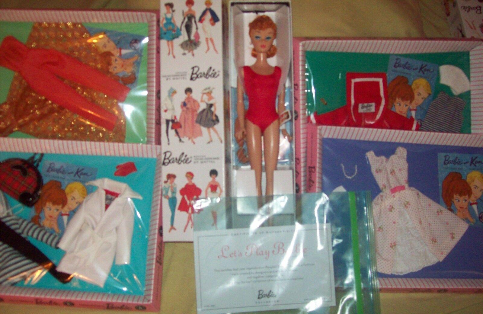 ¡ a Jugar De Muñeca Barbie Pelirroja W   Los 4 fashions.mib