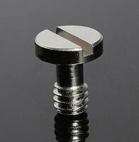 "1/4"" Metal Screw for Camera Tripod Monopod Quick Release (QR) Plate Manfrotto PA"