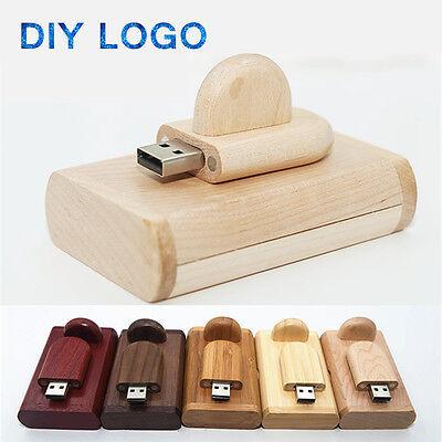 Engraved Custom Walnut Wooden USB 2.0 Flash Drive 16GB 32GB Photography Studio