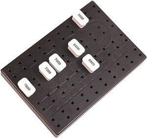 MSD 87551 Rubber Module Holder-RPM//Retard Chip holder-Module Organizer-Holds 40