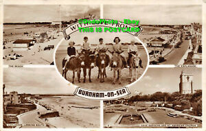 R078341 With Love from Burnham on Sea. RP. 1955. Multi View