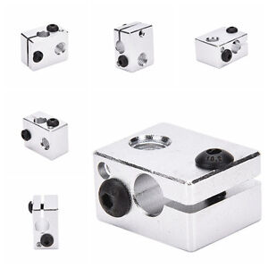 Aluminium-Heat-Block-For-3D-Printer-V6-J-head-Makerbot-MK7-MK8-Extruder-Pip-I2XI