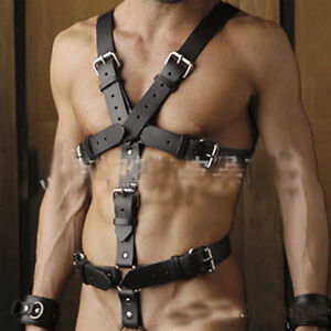 Full leather bondage harness