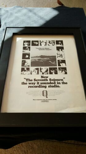 The Moody Blues Seventh Sojourn Rare Original Promo Poster Ad Framed!