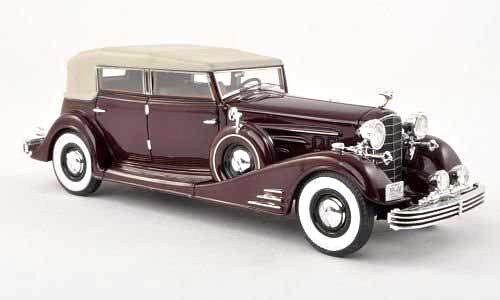 Wonderful modelcar Cadillac Fleetwood Allweather Phaeton 1933 - darkrot - 1 43