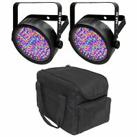 Chauvet Dj Slimpar 56 Led Dmx Slimpar Can Light Effect (2 Pack) + Transport Bag on sale