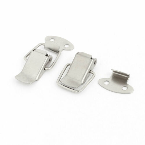 31mm Long Boxes Cases Stainless Steel Spring Draw Toggle Latch Catch 2Pcs