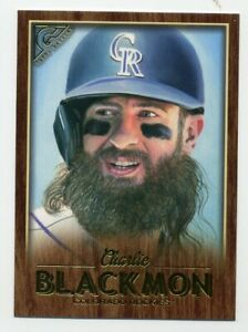2018-Topps-Gallery-CHARLIE-BLACKMON-Rare-WOOD-PARALLEL-146-Colorado-Rockies