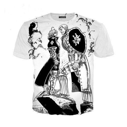 Anime Nanatsu No Taizai Casual Women Men T-Shirt 3D Print Short Sleeve Tee Tops