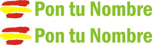 Customizable stickers Flag of spain with name vinyl bike bike 2