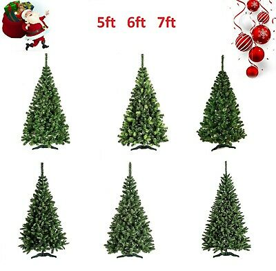 5/6/7FT LARGE ARTIFICIAL CHRISTMAS TREE SNOW & CONES ...