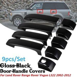 9Pcs-Gloss-Black-Door-Handle-Covers-w-hole-For-Land-Rover-Range-Vogue-L322-02-12