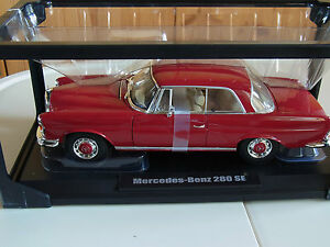 Mercedes Benz 280 S(E) Coupe W111 dunkel Rot red ovp Rarität 1/18 Norev - <span itemprop=availableAtOrFrom>München, Deutschland</span> - Mercedes Benz 280 S(E) Coupe W111 dunkel Rot red ovp Rarität 1/18 Norev - München, Deutschland
