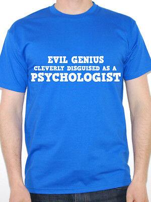EVIL GENIUS PSYCHOLOGIST Funny Psychology Gift Idea Funny Psychology T-Shirt